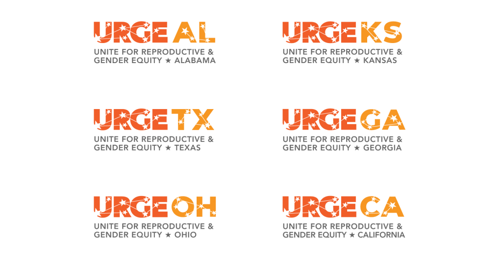 URGE Regional Chapter Logos designed by bombilla