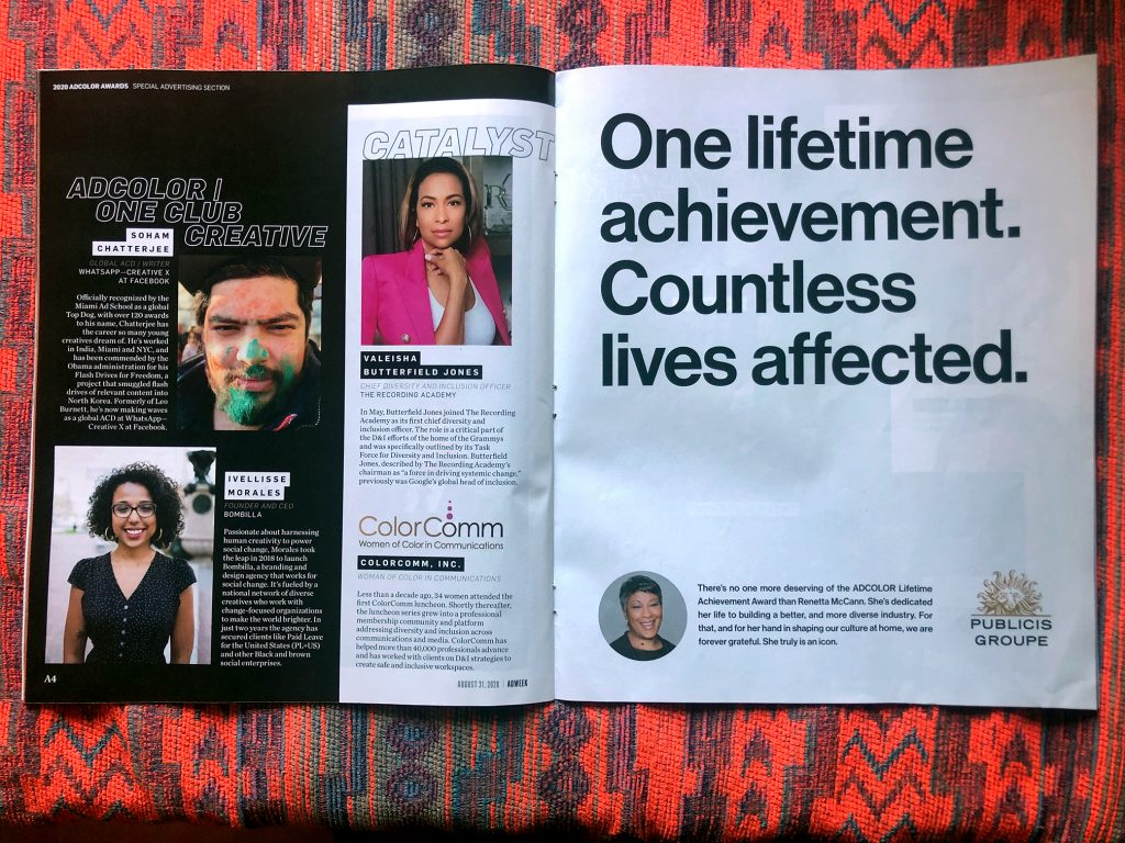 Bombilla CEO Ivellisse Morales featured in Adweek with fellow honoree Soham Chatterjee